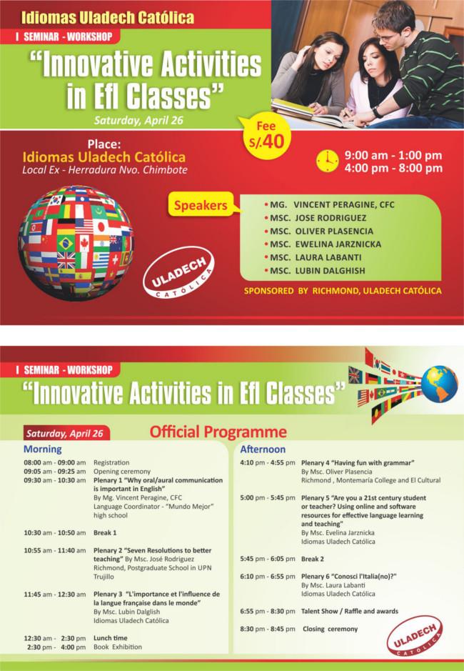 Flyer Idiomas 2014